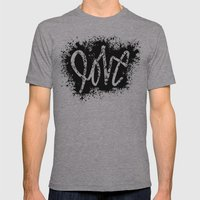 LOVE Mens Fitted Tee Athletic Grey SMALL
