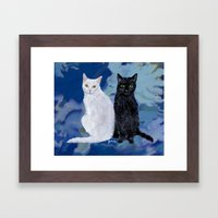 Kingston and Midnight Framed Art Print