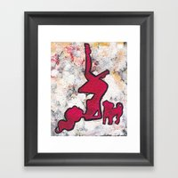 Pinup And Pup Framed Art Print