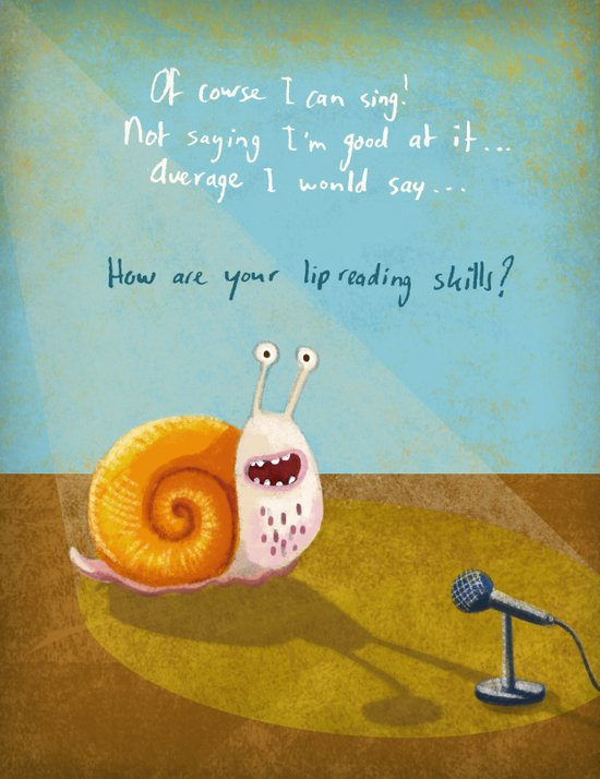 Singing snail Canvas Print