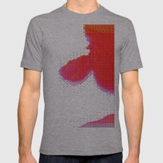Red Heaven Mens Fitted Tee Athletic Grey SMALL