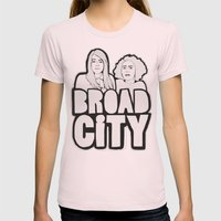 Broad City Womens Fitted Tee Light Pink SMALL