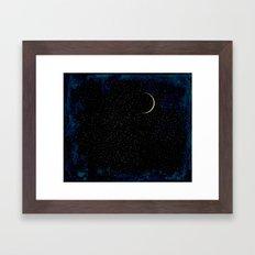 Crescent Moon Framed Art Print