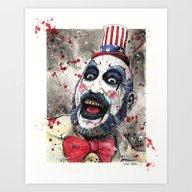 Captain Spaulding -The D… Art Print