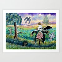 Halloween Field With Fun… Art Print