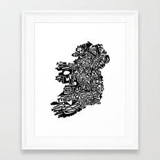 Typographic Ireland Framed Art Print