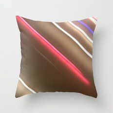 Light Lines. Throw Pillow