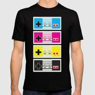 CMYK Retro Gamer  Mens Fitted Tee Black SMALL