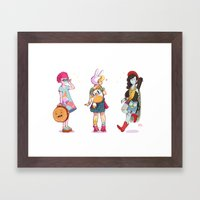 Personal Backpacks Framed Art Print