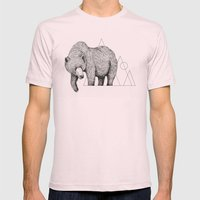 'Wildlife Analysis IV' Mens Fitted Tee Light Pink SMALL