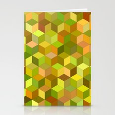 Happy autumn cubes Stationery Cards
