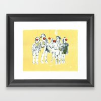 Apple Eaters Framed Art Print