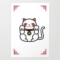 Cats. Art Print