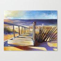 Oval Beach Canvas Print