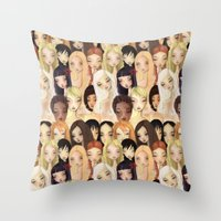 Girlie pattern Throw Pillow