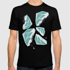 Geometric Pattern 2 Mens Fitted Tee Black SMALL