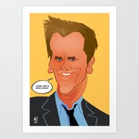 Bacon Caricature Art Print