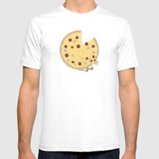Pizza! Mens Fitted Tee White SMALL