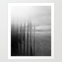 Wander ~ Black and white version Art Print