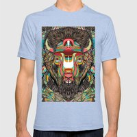 Bison (Feat. Bryan Galla… Mens Fitted Tee Tri-Blue SMALL