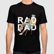 Rad Dad Black Mens Fitted Tee SMALL