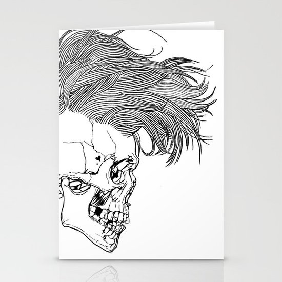 Death is New Punk Stationery Card