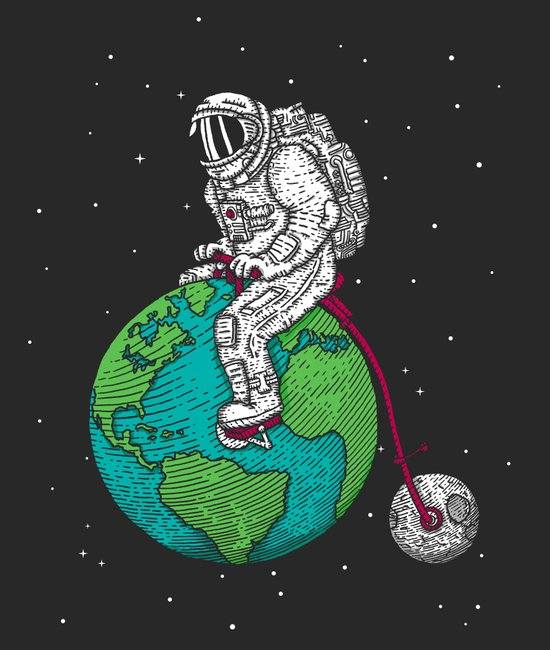 Ride the world Art Print