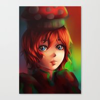 Canvas Print featuring Bell Mushroom by Peach Momoko