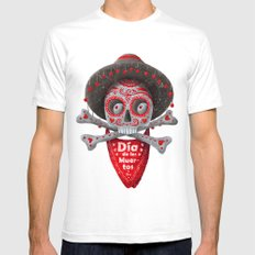 Día De Muertos Mens Fitted Tee White SMALL