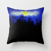 Spooky Forest Engulfs Th… Throw Pillow