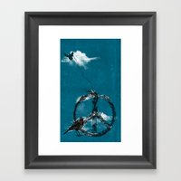 Sewing Birds Framed Art Print