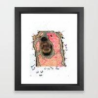 Bear Pixel Plans Framed Art Print