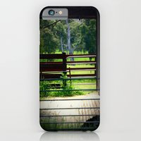 iPhone & iPod Case featuring Framing a cattle Shed by Chris' Landscape Images of Australia