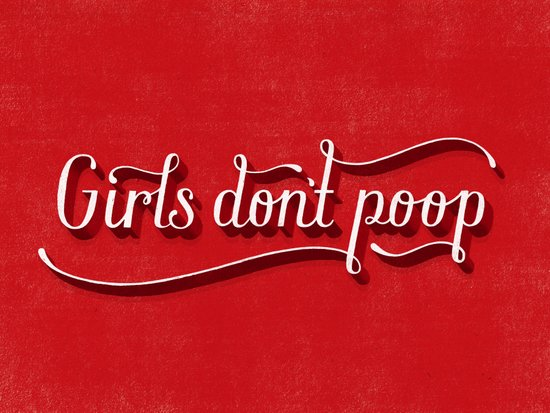 Girls Don't Poop Canvas Print
