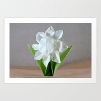Origami Daisy Art Print