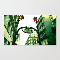 Metro In Paris Canvas Print