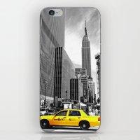 The yellow cab iPhone & iPod Skin