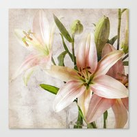 Textured Lilies Canvas Print