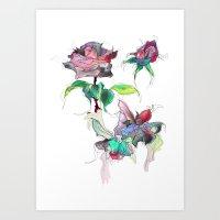 Rose. Art Print