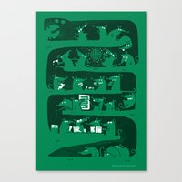 There's a party in my snake Canvas Print