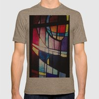 Stained Beauty Mens Fitted Tee Tri-Coffee SMALL