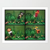 We Love The Jungle Art Print