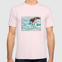 Spirited Away Mens Fitted Tee Light Pink SMALL