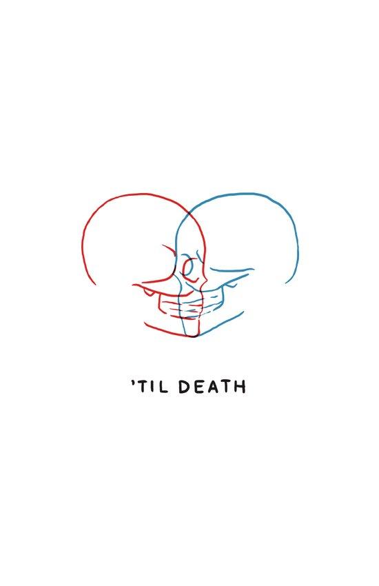 'Til Death (Minimal) Art Print