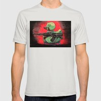 Camo Duck Mens Fitted Tee Silver SMALL