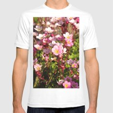 Pretty In Pink White SMALL Mens Fitted Tee