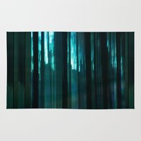 Forest in emerald green Rug