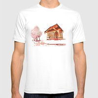 Imaginary landscape Mens Fitted Tee White SMALL