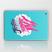 Justice Like A Thunderbolt Laptop & iPad Skin