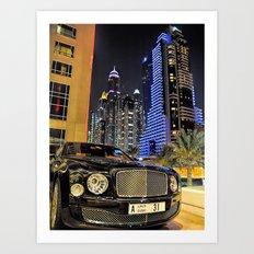 Bentley Mulsanne in Dubai Art Print